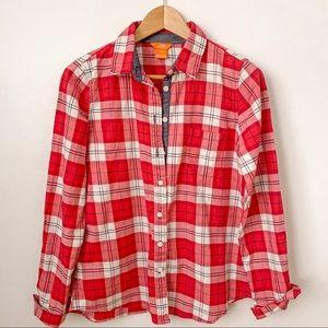 Joe Fresh Checkered Chambray Flannel Shirt
